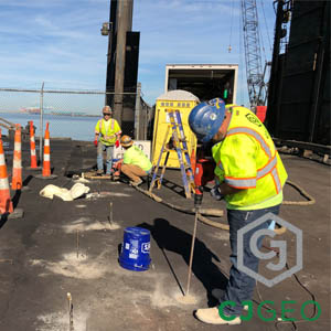 Coal Pier Sinkhole Grouting